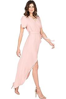 152e4f2442a Standards   Practices Modern Women Rose Pink Short Sleeve V-Neck Wrap Maxi  Dress