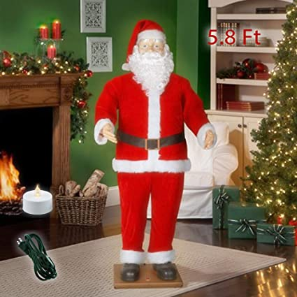 Christmas Dancing Santa.Amazon Com Holiday Time 5 8ft Dancing Santa Claus Animated