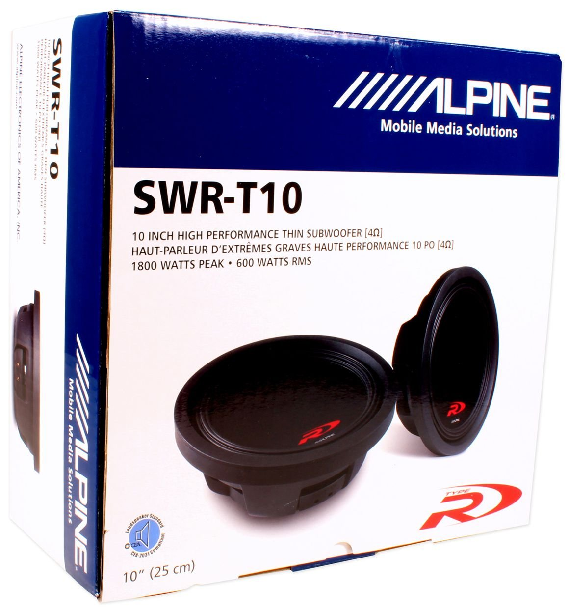 Alpine Swr T10 10 Inch 1800 Watt 4 Ohm Shallow Mount 2 Single Voice Coil Subwoofer Wiring Diagram Car Electronics