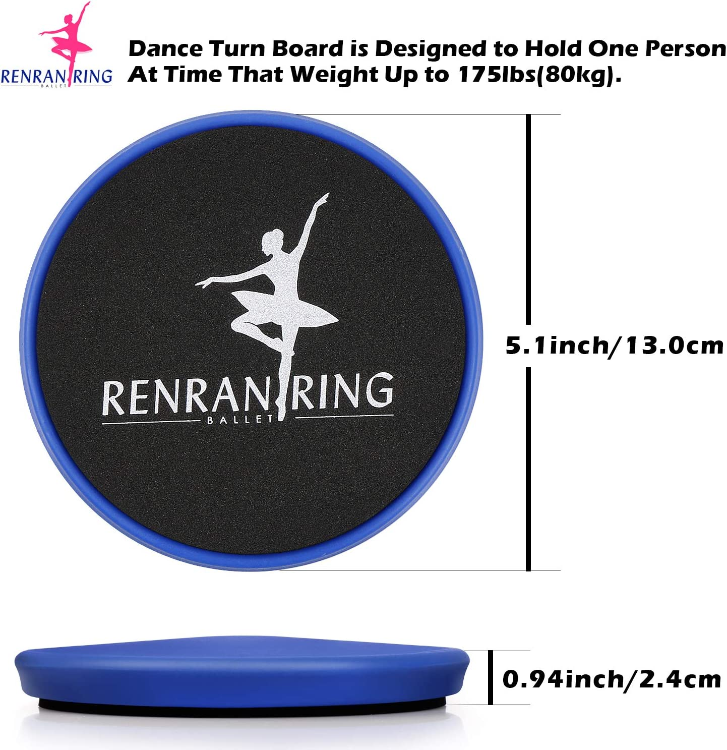Blue Turn Board for Gymnastics and Ice Skaters Practice Spin Balance/—Gift for Dancer Learning RENRANRING Ballet Turning Disc for Dancers