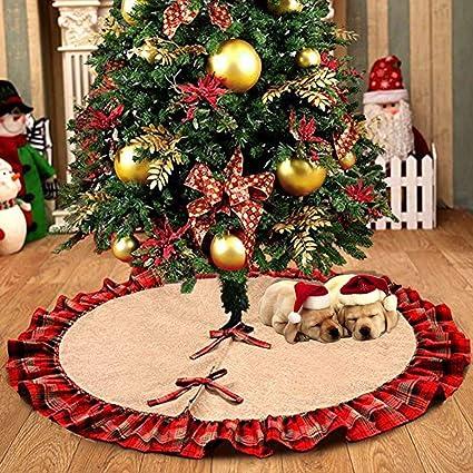 Immagini Decorazioni Di Natale.Ehugos Albero Di Natale Gonna Biancaneve Decorazioni Di Natale Vacanza Albero Gonne Red