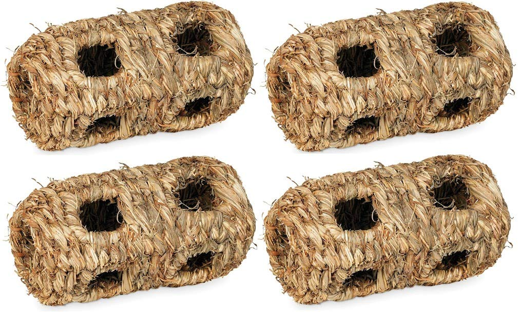 Prevue Hendryx 1092 Nature's Hideaway Grass Tunnel Toy, Small Pack of 4 by Prevue Hendryx