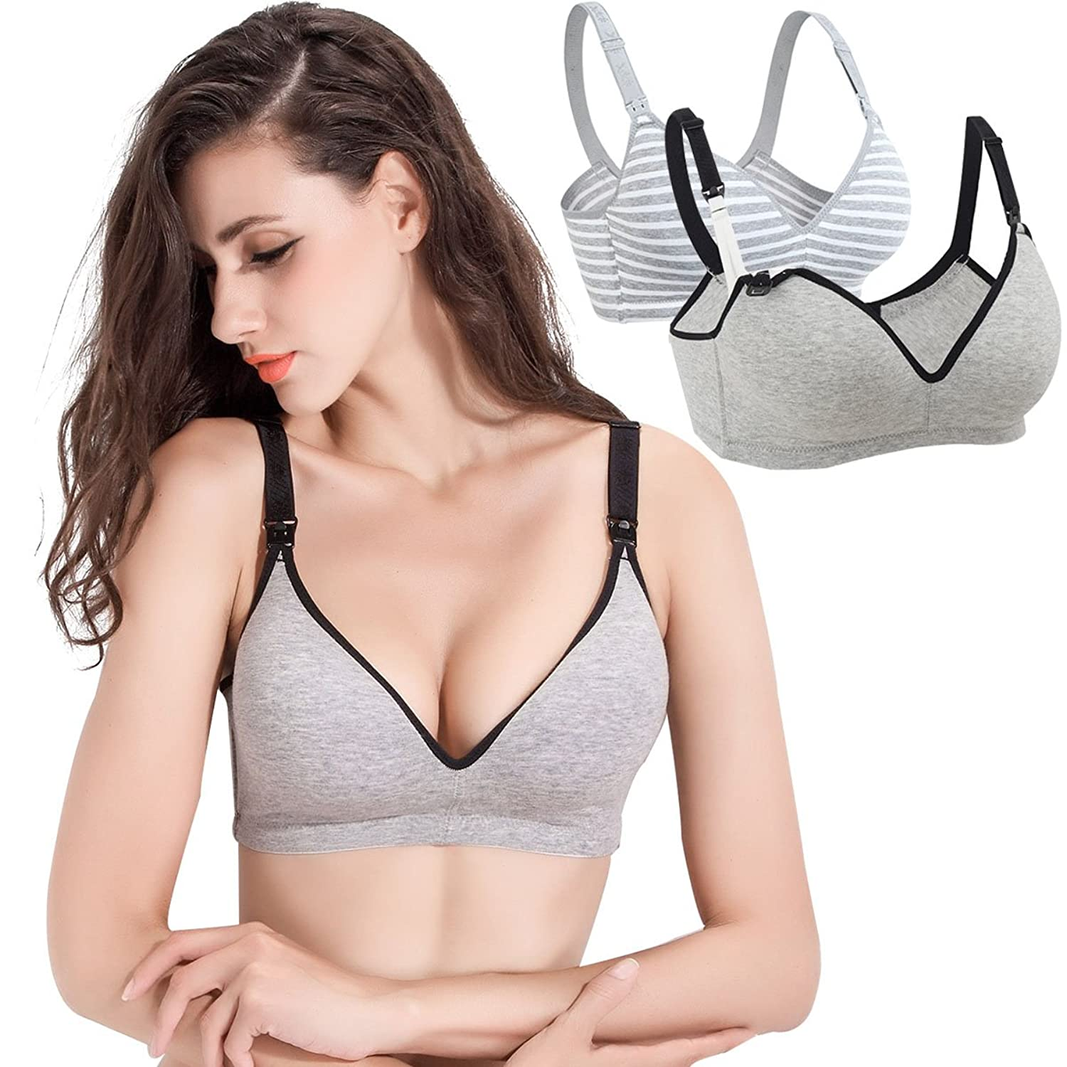 cb74c0293 COMFORT AND SOFT  Enjoy unmatched comfort and soft with this maternity  nursing bra. A wireless design makes the nursing bra very soft.