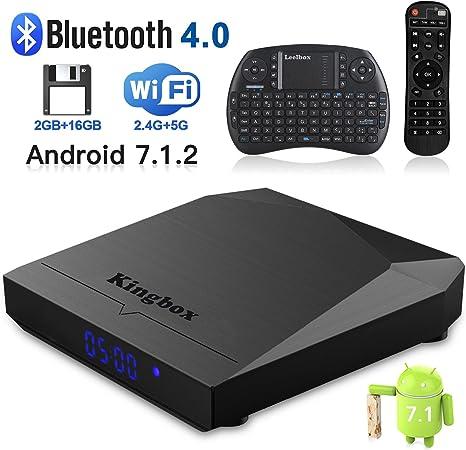 Kingbox K3 Android 7.1 Box con Amlogic S912 Octa-Core 64 bits 2GB/16GB Soporte Dual WiFi 2.4+5GHz/3D/4K/BT 4.0/1000M LAN Android Smart TV Box: Amazon.es: Electrónica