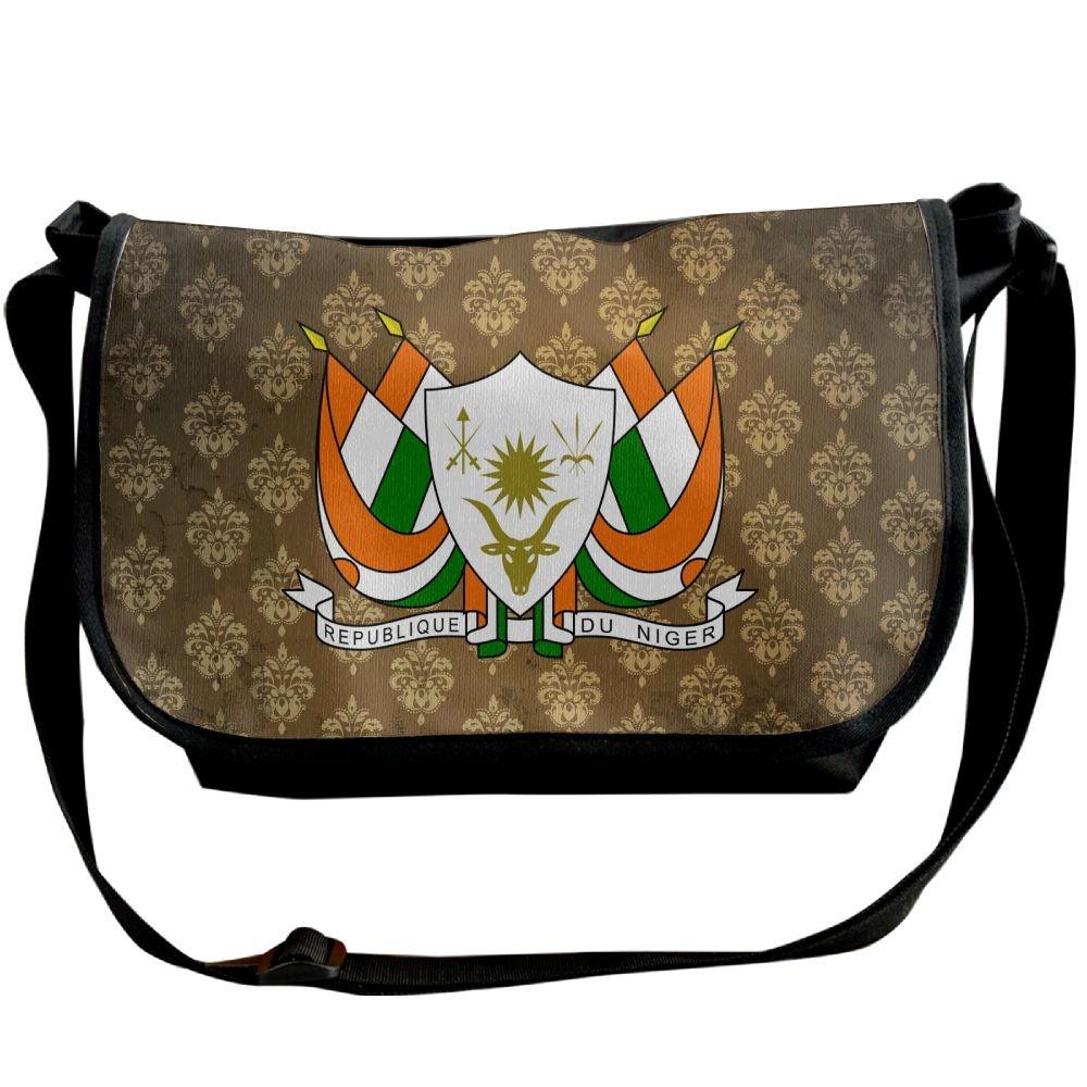 Lov6eoorheeb Unisex Coat Of Arms Of Niger Wide Diagonal Shoulder Bag Adjustable Shoulder Tote Bag Single Shoulder Backpack For Work,School,Daily