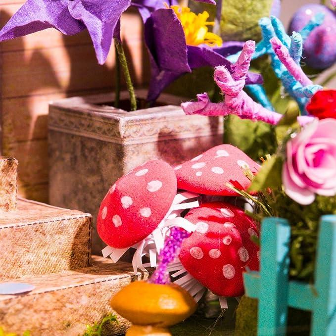 ROBOTIME Puppenhaus Gartenmöbel Holzhandwerk fü DIY Modellbau Miniaturbau