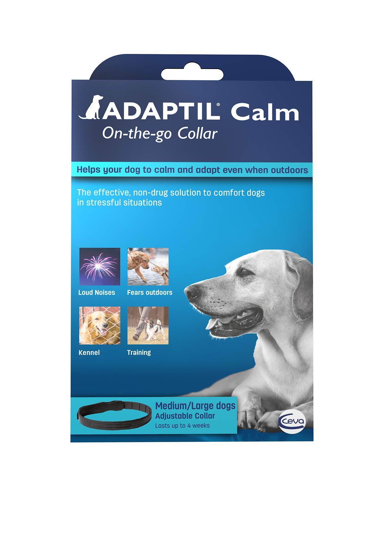 Adaptil Calming Pheromone Collar Medium Large Dogs. Max Adjustable Neck Size 24.5 inch