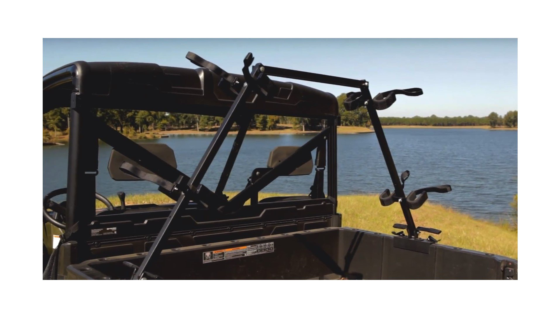 Great Day Quick-Draw Sporting Clays 4-Gun Rack - UTV's bedsides mounting by Great Day