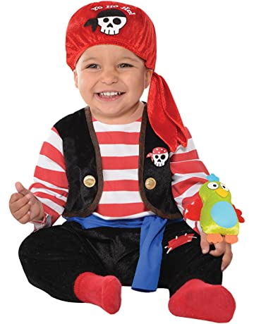 e3f61b1a9423b Baby Boys Buccaneer Pirate Halloween World Book Day Week Fancy Dress Costume  With Rattle (6