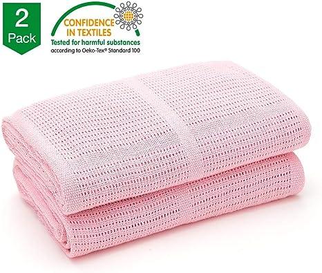 Extra Soft Cotton Cellular Baby Blanket for Pram Bed Travel Cot Bed Basket New