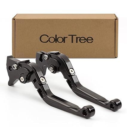 color tree Racing Adjustable CNC Folding Extending Brake Clutch Levers Pair Fit For Kawasaki NINJA 250R 2008-2012, NINJA 300R/Z300 (w & w/o ABS) ...