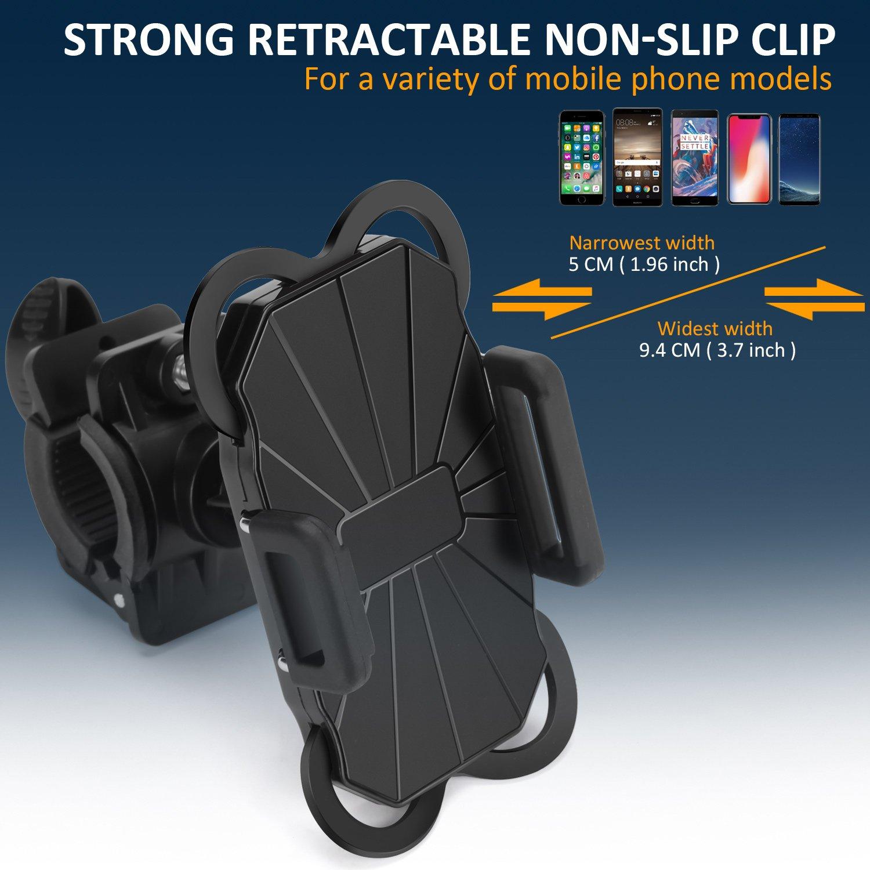 SOCU Universal Handyhalterung Fahrrad Smartphone Handyhalter Fahrrad Verstellbar f/ür iPhone X//8//6 Plus 7//7Plus 6S//6 Galaxy S8//S7//S7 Mit 360 Drehen F/ür 3,5-6,1 Zoll Smartphone GPS Andere Ger/äte