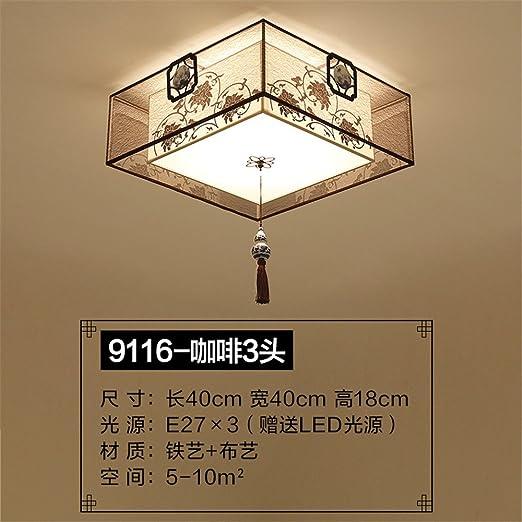 Gunxifacai Lámpara de techo en dormitorio chino cálida ...