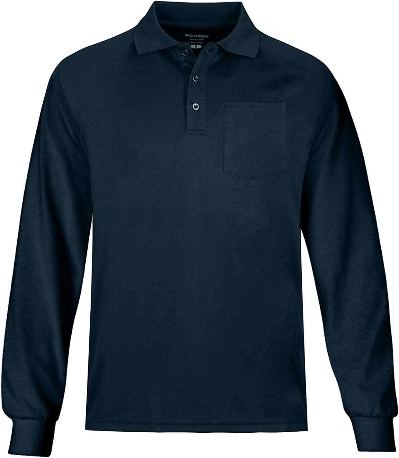 MOHEEN Men's Outdoor Big & Tall Long Sleeve Moisture Wicking Performance Golf Polo Shirt