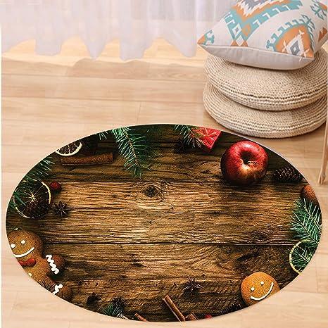 VROSELV Custom carpetchristmas decoración colección Caja de Regalo de Hombre de Jengibre Imagen Pino Canela de