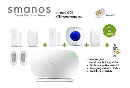 smanos X300 GSM alarma 868 MHz, paquete completo con tarjeta ...