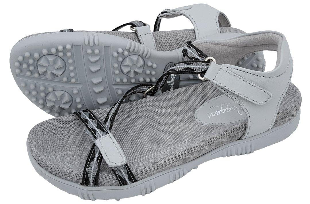 Sandbaggers Galia Women's Golf Sandals (5, Gray) by Sandbaggers