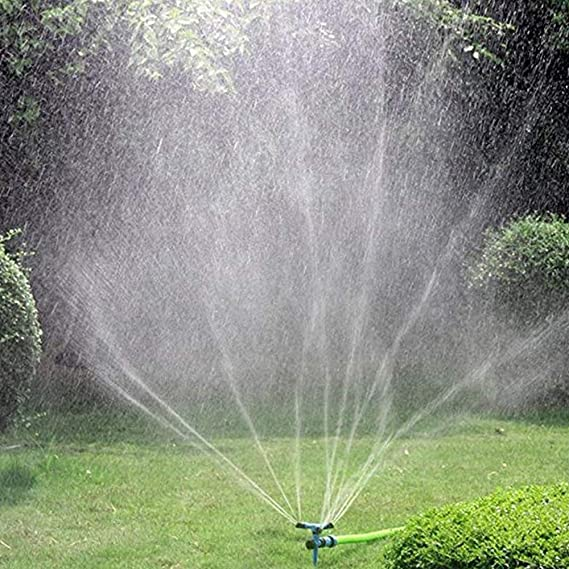 "1/"" 360° Adjustable Impact Sprinkler Sprayer Large Area Water Garden Irrigation"