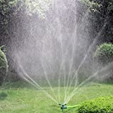 Garden Sprinkler, Kadaon 360 Degree Rotating Lawn Sprinkler with Up to 3,000 Sq. Ft Coverage - Adjustable, Weighted Gardening