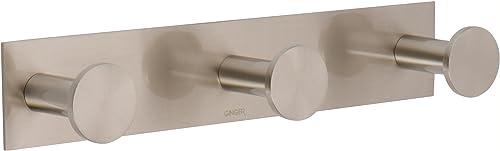 Ginger 2810T SN Surface Triple Robe Bath Towel Hook, Satin Nickel