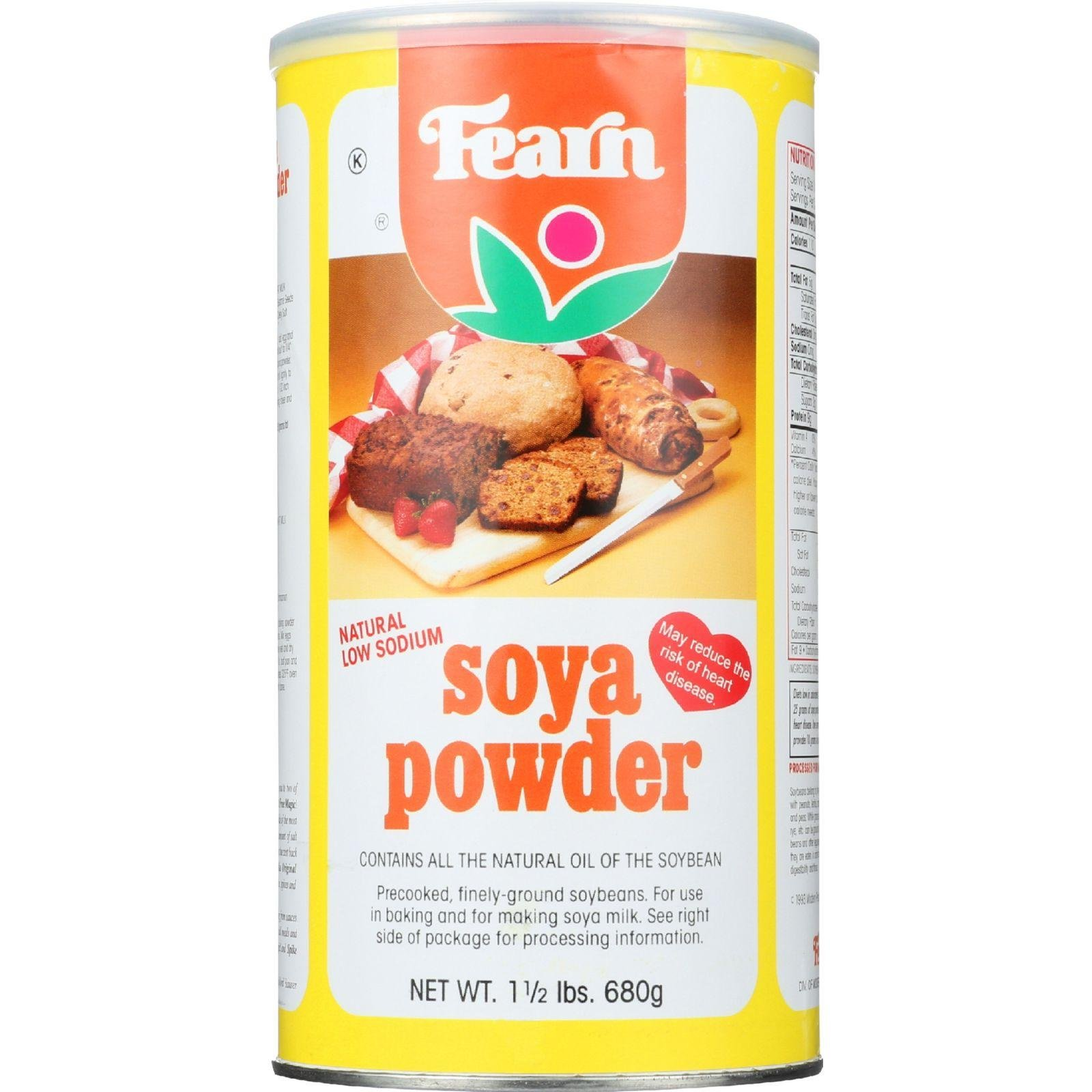 Fearns Soya Food Natural Soya Powder - 1.5 lb - case of 12 by Fearns Soya Food