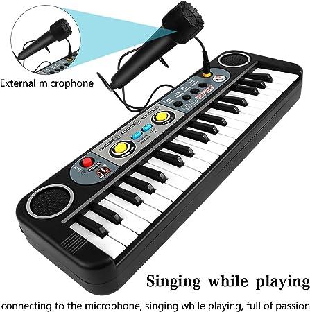 ZJTL teclado de piano para niños, instrumento de música con ...