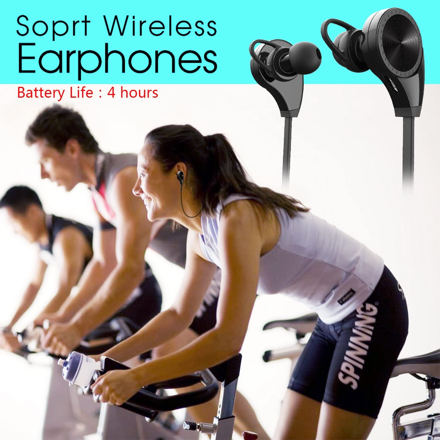 qobobo® CSR Bluetooth 8365 / 4.1 + EDR Wireless Sport en la oreja ...