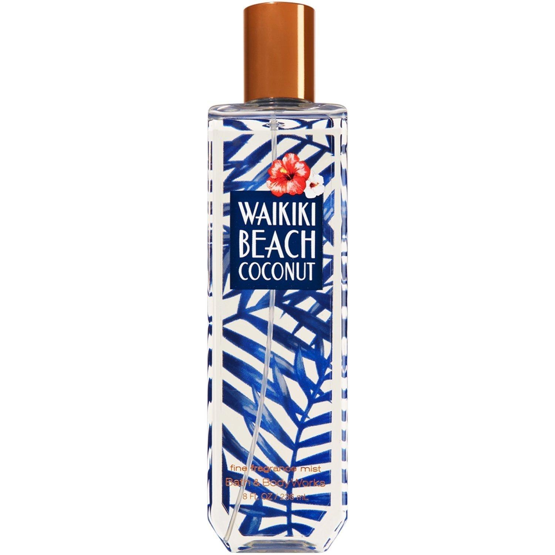 Bath & Body Works Waikiki Beach Coconut Fine Fragrance Mist, 8 Fl Oz