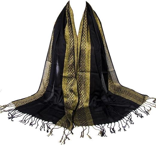 Fashion Women Ombre Two Tone Pashmina Shawl Wrap Scarf Wedding Party Xmas Gift