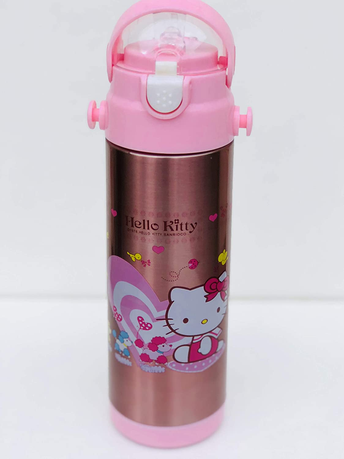 Character Kids Water Bottle Hello Kitty 500 ml Bottle for School, Flask Bottle for Sports, Camping, Cycling, Staying Hydrated, Favourite Kids Character Tong Lok