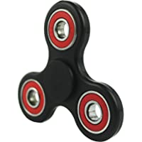 FIDGETERRELAX Hand Spinner Toys Relieve Stress for Kids and Adults (Black-Red)