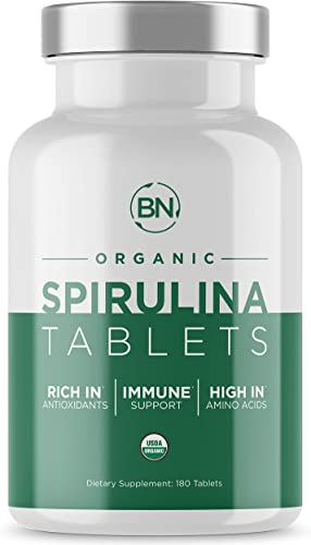 Spirulina Tablets Organic USDA Certified – RAW Nutrient Dense Over 70 Protein Per Serving – Purest Source Vegan Protein – Superfood – Rich in Vitamins and Minerals