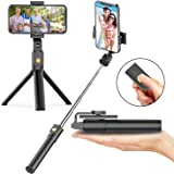Selfie Stick Tripod with Bluetooth Wireless Remote, 3 in 1 Extendable Selfie Stick with Tripod Stand for iPhone 11/11 Pro/11