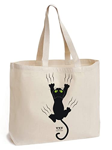 ba2d334303 TNT Positive Tote bag cotone - Sac de courses 45 x 42 x 8 cm fond - Grand  ...