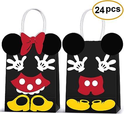 Amazon.com: Micky Minnie Bolsas de regalo de fiesta de papel ...