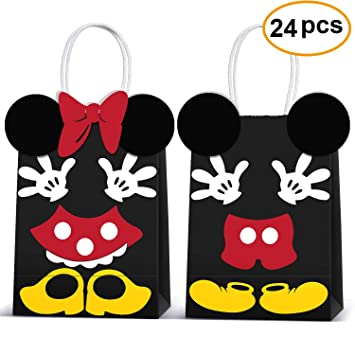 Amazon.com: Micky Minnie Bolsas de regalo de fiesta de papel ...