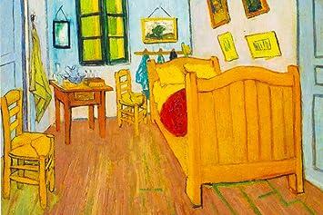 Amazon.de: Vincent Van Gogh Schlafzimmer in Arles 1888 Öl auf ...