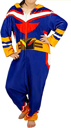 My Hero Academia All Might Cosplay Pajamas One-Piece Flannel Sleepwear Costumes