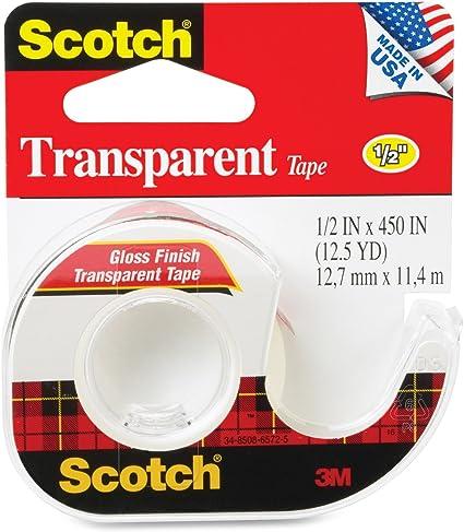 1//2 in x 450 in Scotch® Transparent Tape 144