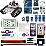KOOKYE Robot Car Electronics Parts Kit with CD tutorial for Tank Chassis Platform Arduino Raspberry Pi DIY (Robot Car Parts Kit)