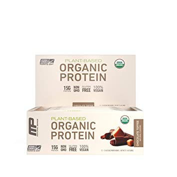 MusclePharm Organic Protein Bar Certified USDA 15g Plant Based No