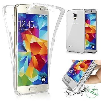 Carcasa Samsung Galaxy S5 neo, Caso Funda Samsung Galaxy S5 neo, JAWSEU Samsung Galaxy S5 neo i9600 Carcasa Caso Cover 360 Grados Protección Completa ...