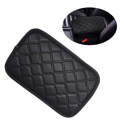 Monrand Center Console Armrest Pad, Universal Car Armrest Cover Fit for Most Vehicle, SUV, Truck Car Accessories (Black Line): Automotive
