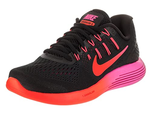 promo code 1e08a 6c8da Nike Womens Lunarglide 8 Running Shoes Black Multi Color Red 843726-006 Size
