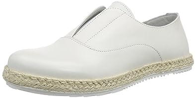 ShootShoot Shoes SH-150080FF Damen Leder Sommer Slipper - Mocasines Mujer, Color Blanco, Talla 40