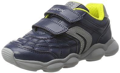 Geox Jungen J Magnetar Boy B Sneaker, Blau (Navy/Orange), 30 EU