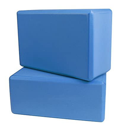 Sellmore Yoga Block,2 Pack High Density EVA Foam Exercise Blocks to Support and Deepen Poses,Improve Strength and Aid Balance and Flexibility