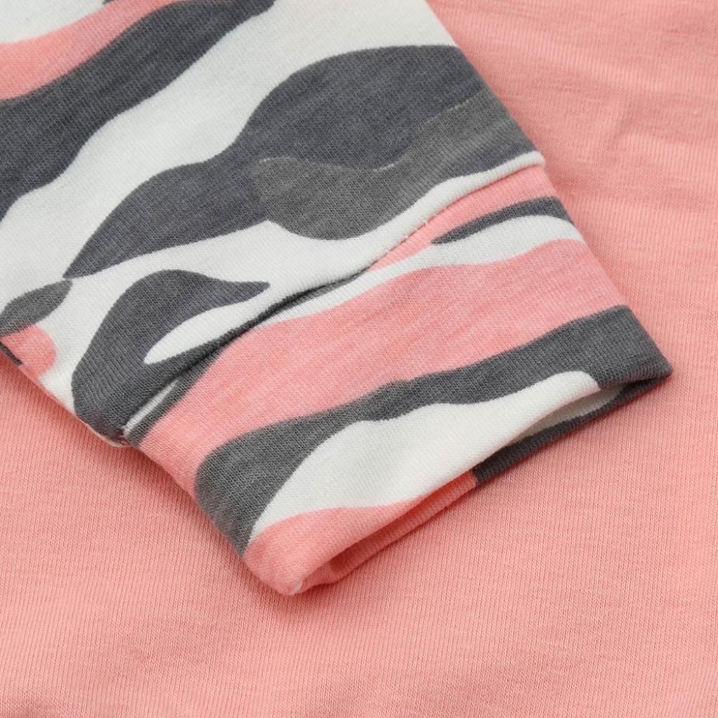 6-24Monat Babykleidung,Sannysis Kleinkind Baby M/ädchen Jungen Camouflage Bogen Tops Hosen Outfits Set Kleider