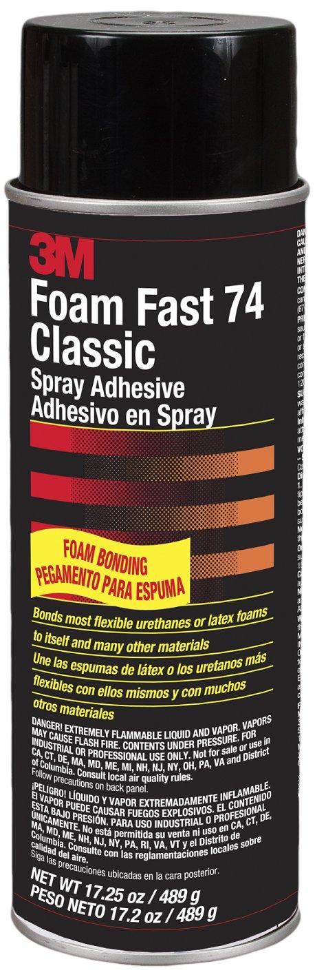 3M 74 Orange Foam Fast Classic Spray Adhesive, 17.25 oz
