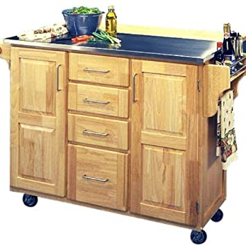 Amazon.com: BS Kitchen Trolley Cart Island with Stainless ...